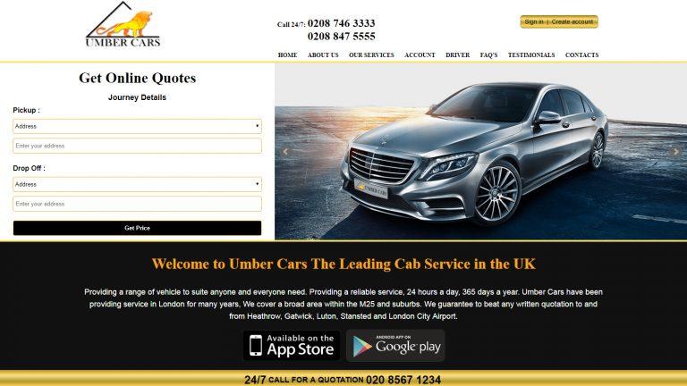 umber-cars-website
